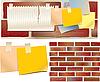 Vector clipart: wall board