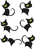 Vector clipart: black kitty cartoon