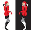 Mädchen in rotem Kleid | Stock Vektrografik