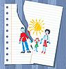 Vector clipart: children`s drawing