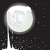 Векторный клипарт: Лунный кот