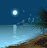 Vector clipart: night sea