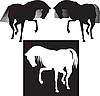 Vector clipart: horse silhouette