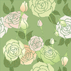 Vector clipart: roses background seamless