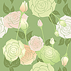 Vector clipart: roses seamless pattern pastel color