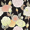 Vector clipart: floral design seamless pattern
