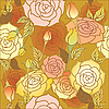 Vector clipart: floral design roses pattern seamless