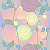 Vector clipart: roses seamless pattern