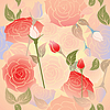 Vector clipart: roses pattern seamless