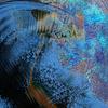Abstract blue dark background | Stock Illustration