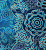 Azul oscuro patrón floral | Ilustración