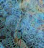 花卉图案的深蓝色 | 光栅插图