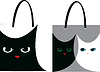 Vector clipart: bags with cats