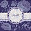 Vector clipart: floral design lilac
