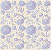 Vector clipart: floral design lilac on beige background