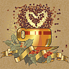Vector clipart: black coffee cup