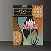 Vector clipart: lotus pattern, book background