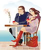 Vector clipart: couples