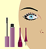 Vector clipart: female eye with mascara