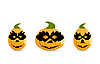 Vector clipart: Gang of pumpkins dressed in masks