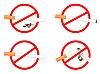Vector clipart: signs No Smoking