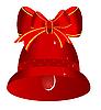 Векторный клипарт: Красный рождественский колокольчик