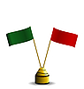 Vector clipart: the two flags red and green colors