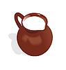 Vector clipart: jug with milk