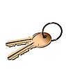 Vector clipart: the golden keys