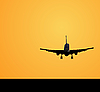 Vector clipart: Airplane landing