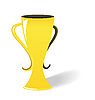 Vector clipart: prize gold cup