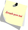Vector clipart: Note pad