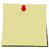 Vector clipart: yellow note pad