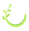 Vector clipart: Concept of branch at green leaf