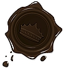 wax grunge brown seal with crown