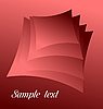 Vector clipart: red abstract for design