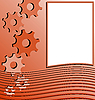 Vector clipart: orange abstract stripped background