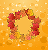 Vector clipart: of autumn frame made in maples