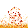 Vector clipart: Autumn floral ornament