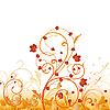 Векторный клипарт: Осень растительный орнамент