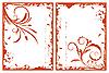 Vector clipart: autumn grunge floral frames