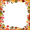 Vector clipart: Background autumn frame