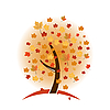Vector clipart: Colorful autumn tree