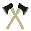 Vector clipart: Two axes