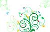 Vector clipart: Floral decorative background