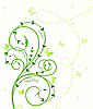 Vector clipart: Flower card with butterfly