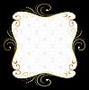 Vector clipart: Golden floral frame