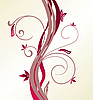 Vector clipart: Abstract floral background