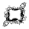 Векторный клипарт: цветочный черный элемент декора для дизайна