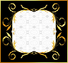 Vector clipart: Golden floral frame